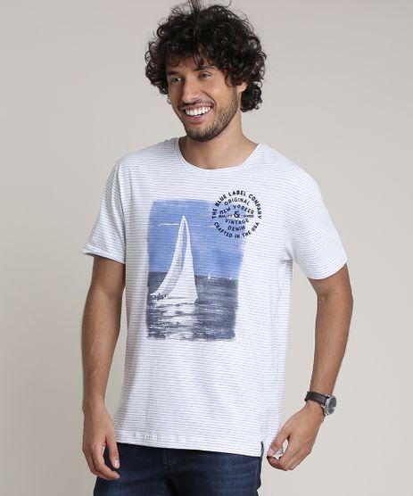 Camiseta-Masculina-Listrada-com-Veleiro-Manga-Curta-Gola-Careca-Branca-9717397-Branco_1