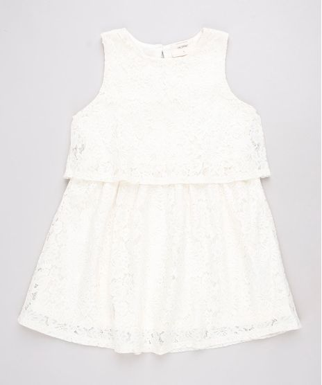 Vestido-Infantil-em-Renda-com-Recorte-Sem-Manga-Off-White-9584035-Off_White_1
