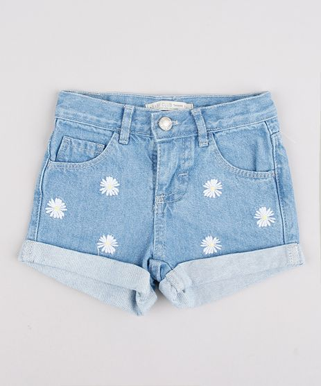 Short-Jeans-Infantil-com-Bordado-Floral-Barra-Dobrada-Azul-Claro-9736013-Azul_Claro_1