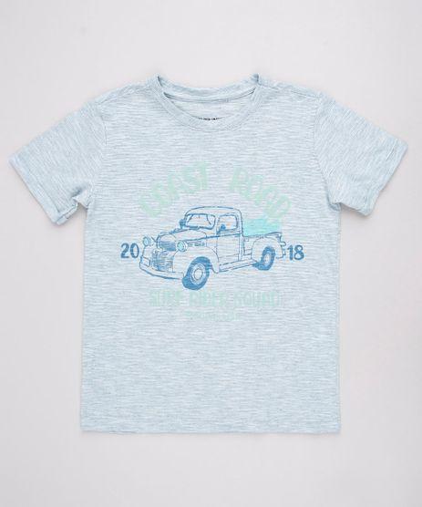 Camiseta-Infantil-Carro-Listrada-e-Texturizada-Manga-Curta--Azul-Claro-9754728-Azul_Claro_1