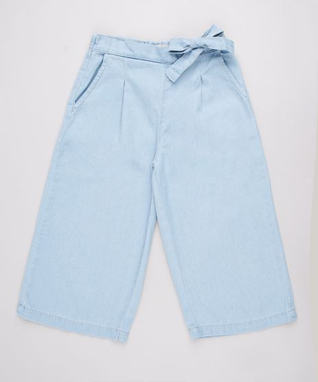 Calca-Jeans-Infantil-Pantalona-com-Laco-e-Bolsos-Azul-Claro-9748593-Azul_Claro_1