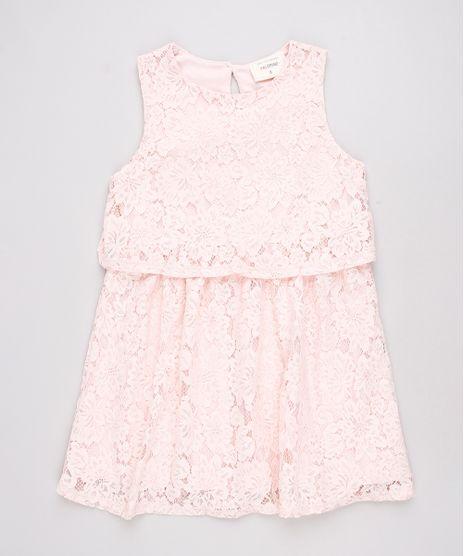 Vestido-Infantil-em-Renda-com-Recorte-Sem-Manga-Rosa-9584038-Rosa_1