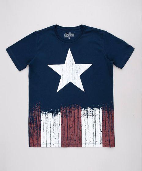 Camiseta-Infantil-Capitao-America-Manga-Curta-Gola-Careca-Azul-Marinho-9710387-Azul_Marinho_1