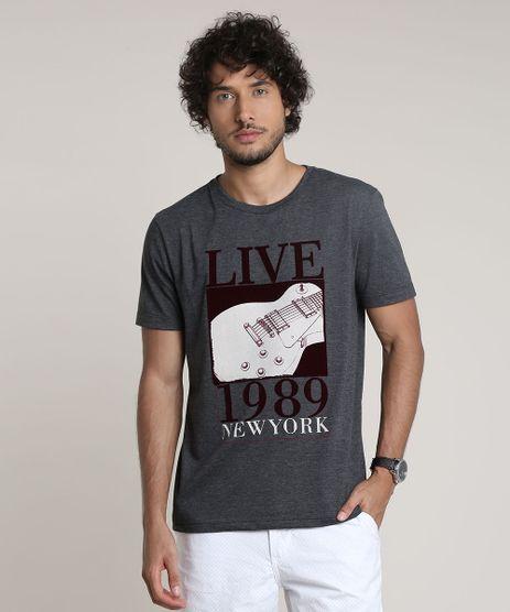 Camiseta-Masculina-Guitarra--Live-1989---Manga-Curta-Gola-Careca-Cinza-Mescla-Escuro-9780500-Cinza_Mescla_Escuro_1