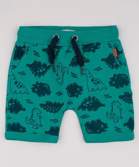 Bermuda-Infantil-Estampada-de-Dinossauros-em-Moletom-Verde-9729574-Verde_1