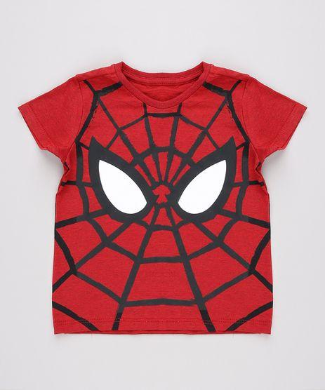 Camiseta-Infantil-Homem-Aranha-Manga-Curta--Vermelha-9755815-Vermelho_1