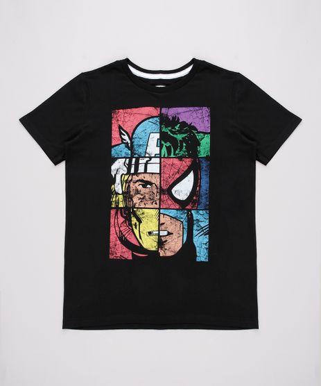 Camiseta-Infantil-Os-Vingadores-Manga-Curta-Gola-Careca-Preta-9730857-Preto_1