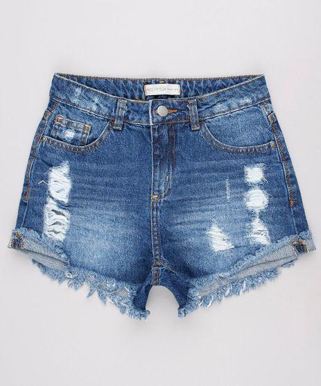Short-Jeans-Infantil-com-Destroyed-Barra-Desfiada-Azul-Escuro-9734894-Azul_Escuro_1