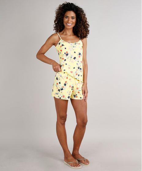 Short-Doll-Feminino-Estampado-Floral-Amarelo-Claro-9704152-Amarelo_Claro_1