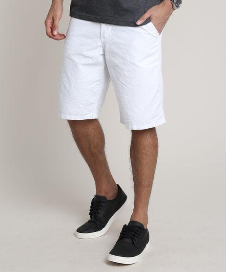 Bermuda-Masculina-Slim-Alfaiatada-Estampada-Mini-Print-Branca-9604837-Branco_1