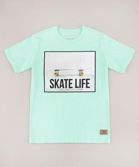 Camiseta-Infantil--Skate-Life--Manga-Curta-Verde-Claro-9734673-Verde_Claro_1