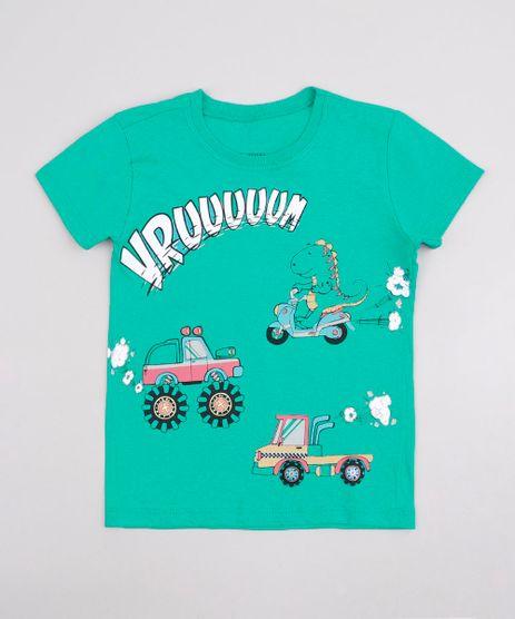 Camiseta-Infantil-com-Estampa-de-Carros-Manga-Curta-Verde-9756696-Verde_1