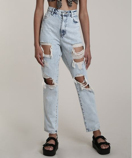 Calca-Jeans-Feminina-Mom-Destroyed-Azul-Claro-9751060-Azul_Claro_1