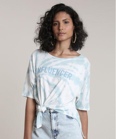 Blusa-Feminina--Influencer--Tie-Dye-com-Amarracao-Manga-Curta-Decote-Redondo-Azul-9700049-Azul_1