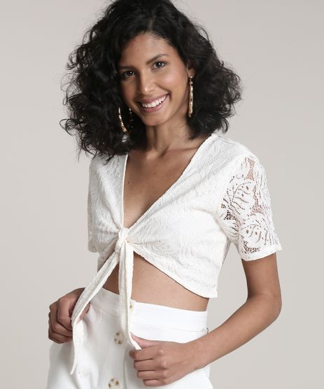 Top-Cropped-Feminino-em-Renda-com-Amarracao-Manga-Curta-Decote-V-Off-White-9623011-Off_White_1