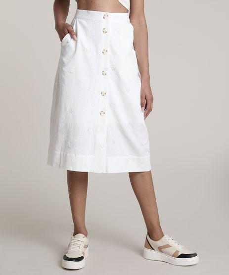 Saia-Feminina-Midi-com-Bordado-de-Folhagem-e-Botoes-Off-White-9632917-Off_White_1