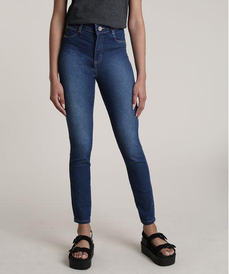 Calca-Jeans-Feminina-Sawary-Cigarrete-Cintura-Alta--Azul-Escuro-9775678-Azul_Escuro_1