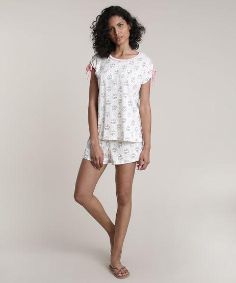 Pijama-Feminino-Estampado-Catcornio-Manga-Curta-Off-White-9638675-Off_White_1