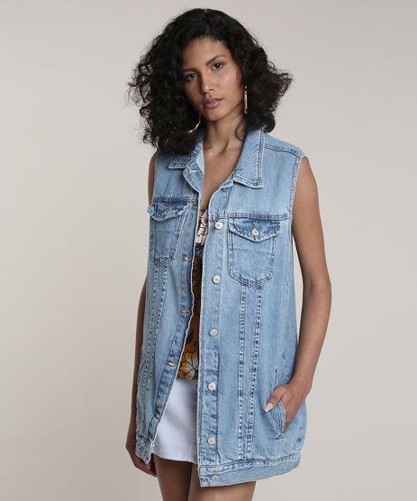 Colete-Jeans-Feminino-Alongado-Azul-Medio-9758587-Azul_Medio_1