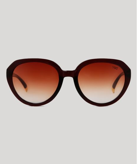 Oculos-de-Sol-Redondo-Feminino-Yessica-Marrom-9833388-Marrom_1