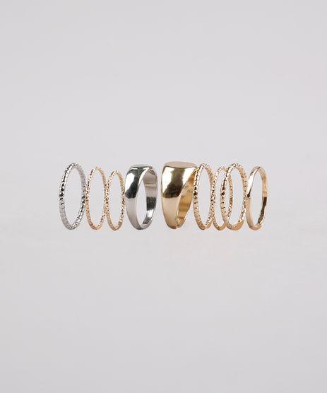 Kit-de-9-Aneis-Femininos-Dourado-9650227-Dourado_1