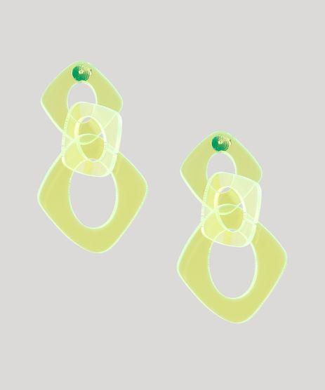 Brinco-Feminino-com-Elos-Amarelo-Neon-9657454-Amarelo_Neon_1