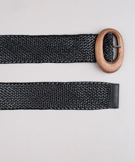 Cinto-Feminino-Texturizado-com-Fivela-Amadeirada-Preto-9641784-Preto_1