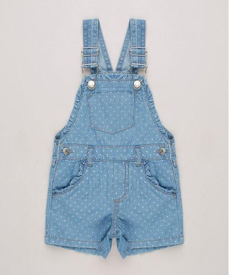 Jardineira-Jeans-Infantil-Estampada-de-Poa-com-Babados-Azul-Claro-9638384-Azul_Claro_1