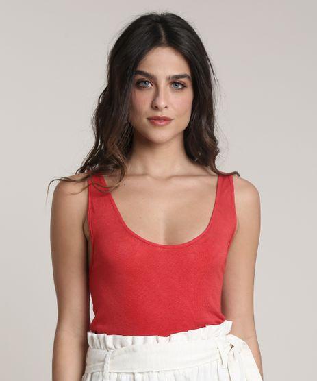 Regata-Feminina-Salinas-com-Linho-Cavada--Decote-V--Vermelha-9792995-Vermelho_1