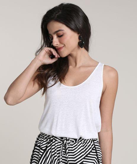 Regata-Feminina-Salinas-com-Linho-Cavada--Decote-V--Off-White-9792995-Off_White_1