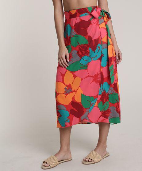 Saia-Feminina-Salinas-Midi-Envelope-Estampada-Floral-Vermelha-9679210-Vermelho_1