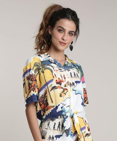 Camisa-Feminina-Cropped-Estampada-Praiana-com-No-Manga-Curta-Amarela-9679075-Amarelo_1