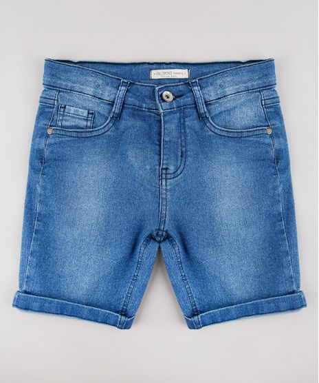 Bermuda-Jeans-Infantil-com-Bolsos-Azul-Medio-9655095-Azul_Medio_1
