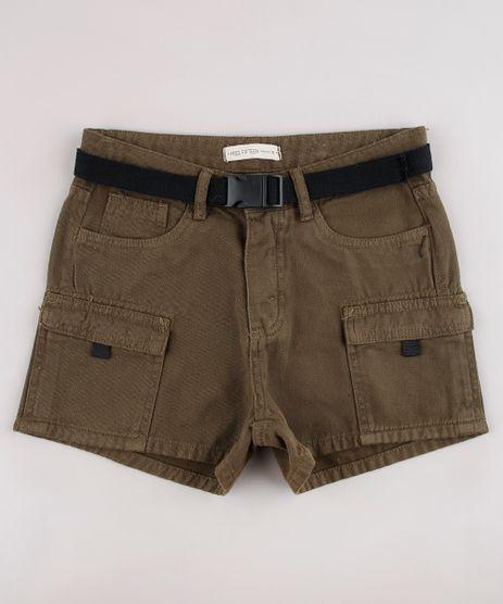 Short-de-Sarja-Infantil-Cargo-com-Cinto-Verde-Militar-9794718-Verde_Militar_1