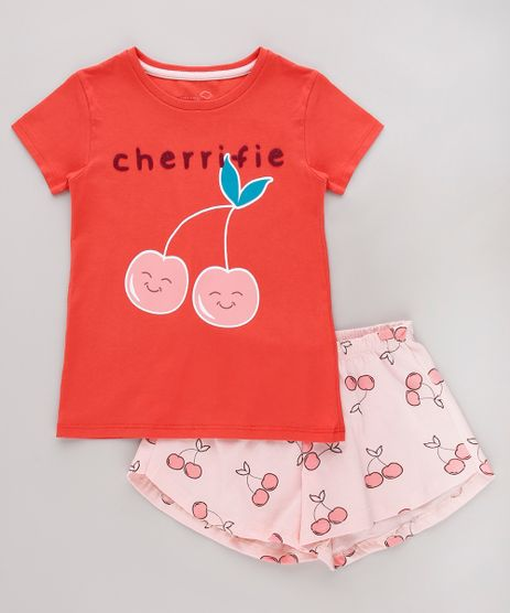 Pijama-Infantil-Cereja-Manga-Curta-Vermelho-9751945-Vermelho_1
