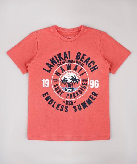 Camiseta-Infantil--Lanikai-Beach--Tropical-Manga-Curta-Coral-9736747-Coral_1