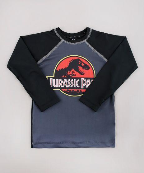 Camiseta-de-Praia-Infantil-Jurassic-Park-Raglan-Manga-Longa-Chumbo-9743107-Chumbo_1