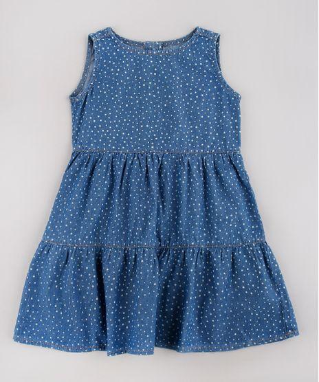 Vestido-Jeans-Infantil-Estampado-de-Poa-Sem-Manga-Azul-Medio-9749456-Azul_Medio_1
