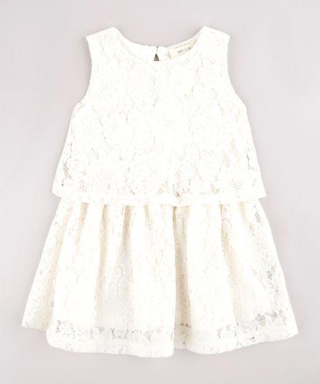 Vestido-Infantil-em-Renda-com-Sobreposicao-Sem-Manga-Off-White-9583058-Off_White_1