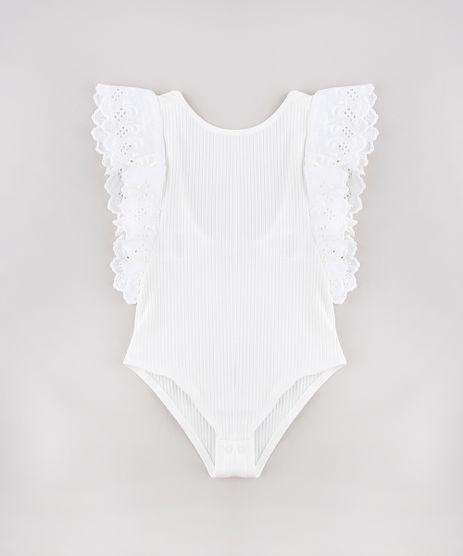 Body-Infantil-Canelado-com-Laise-Manga-Curta-Off-White-9748606-Off_White_1