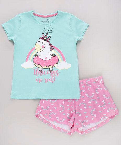 Pijama-Infantil-Unicornio-Manga-Curta-Verde-Agua-9751954-Verde_Agua_1