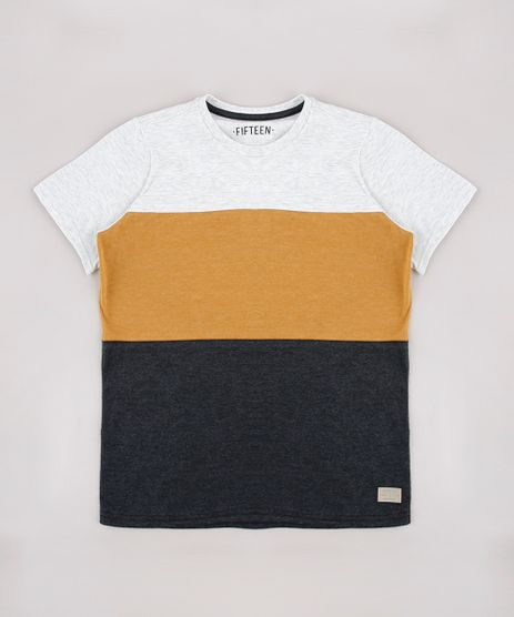 Camiseta-Infantil-com-Recortes-Manga-Curta-Cinza-Mescla-Claro-9758307-Cinza_Mescla_Claro_1