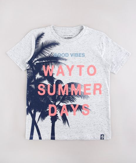 Camiseta-Infantil--Way-to-Summer-Days--Coqueiros-Manga-Curta-Cinza-Mescla-9760015-Cinza_Mescla_1