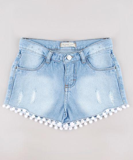 Short-Jeans-Infantil-com-Pompom-e-Puidos-Azul-Claro-9743125-Azul_Claro_1