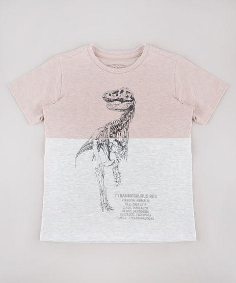Camiseta-Infantil-Dinossauro-Tyrannosaurus-Rex-com-Recorte-Manga-Curta-Rose-9734839-Rose_1