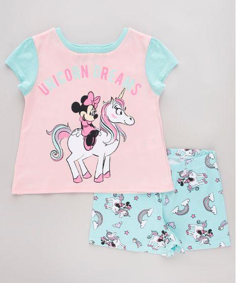 Pijama-Infantil-Minnie-Manga-Curta-Rosa-9751958-Rosa_1
