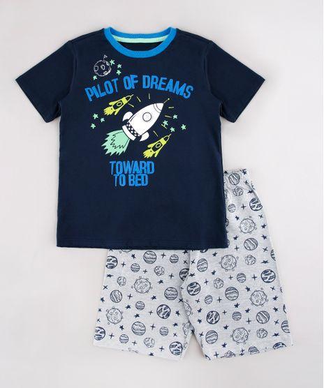 Pijama-Infantil-Astronauta-Manga-Curta-Azul-Marinho-9751948-Azul_Marinho_1