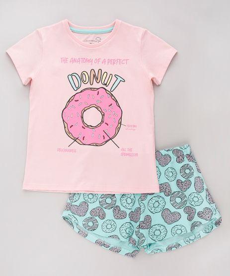 Pijama-Infantil-Donut-Manga-Curta-Rosa-9751953-Rosa_1