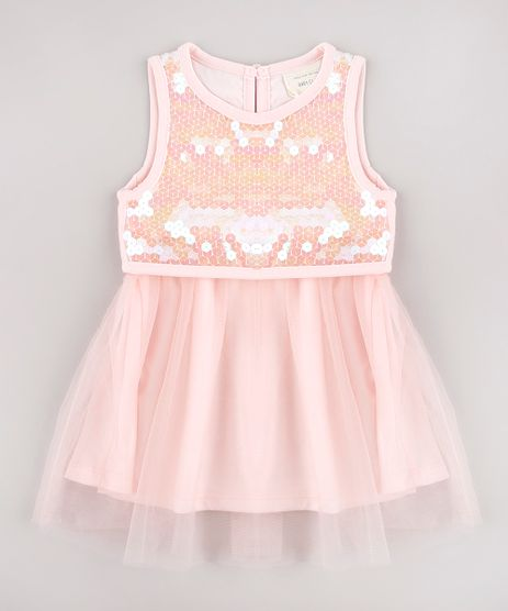 Vestido-Infantil-em-Tule-com-Paete-Sem-Manga-Rosa-Claro-9583062-Rosa_Claro_1