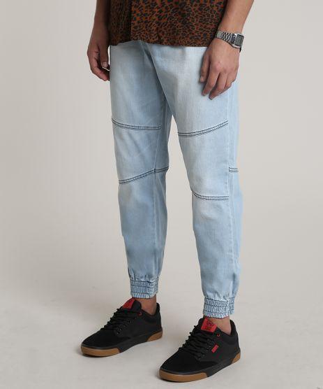 Calca-Jeans-Masculina-Jogger-com-Recorte-Azul-Claro-9841833-Azul_Claro_1